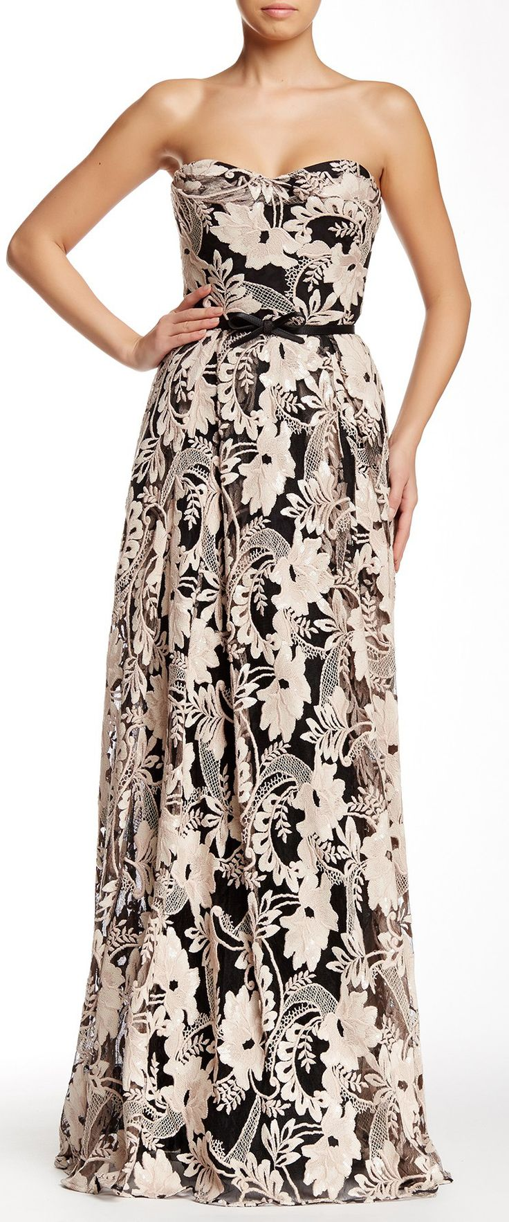 Embroidered gown // sponsored by Nordstrom Rack