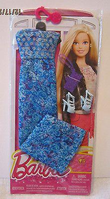 Barbie-Fashionistas-2015-azul-con-impresion-Purpura-amp-Glitter-traje-Nuevo