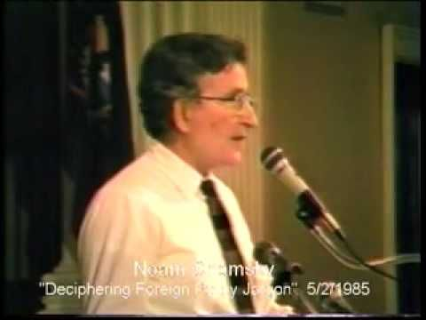 Bernie Sanders + Noam Chomsky: Deciphering Foreign Policy Jargon   Published on Jun 23, 2015   https://youtu.be/CvZRsdHgxgA   Aired on May 20, 1985. Part II unavailable at this time.