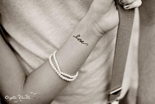 """""""love"""" tattoo"""