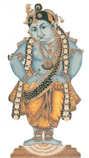 Krishna, Mysore painting