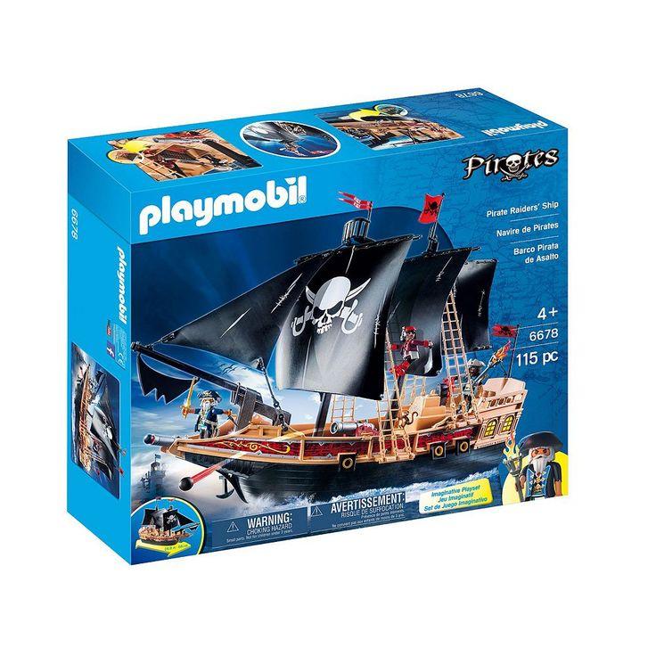 Playmobil Pirate Raiders' Ship - 6678, Multicolor