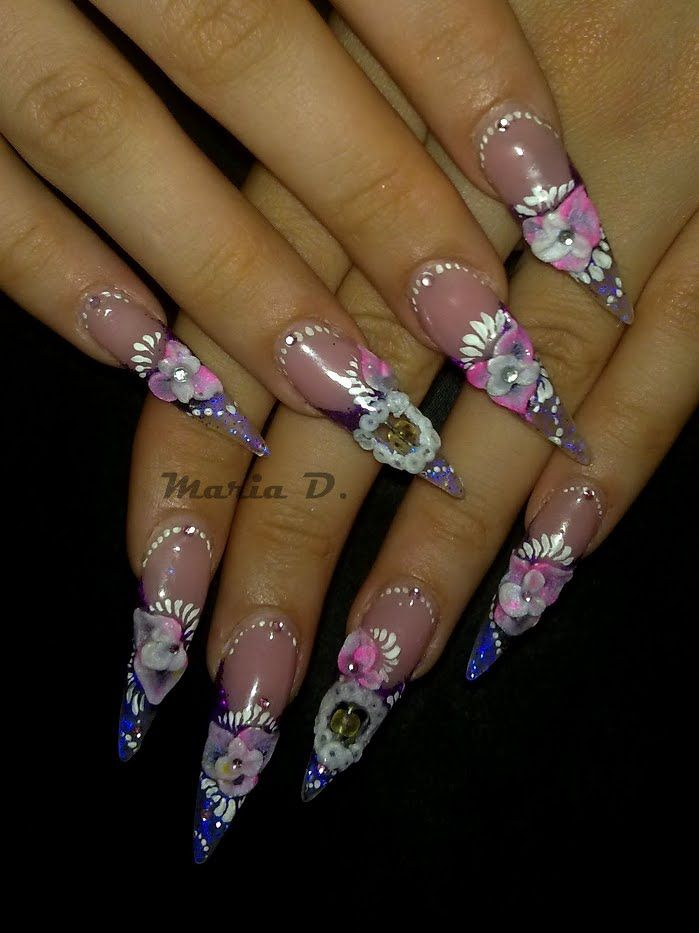 53 best stiletto nails images on Pinterest | Stiletto nails, Nail ...