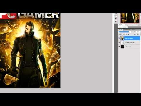 Photoshop cs5 how to make a pc gamer like magazine cover