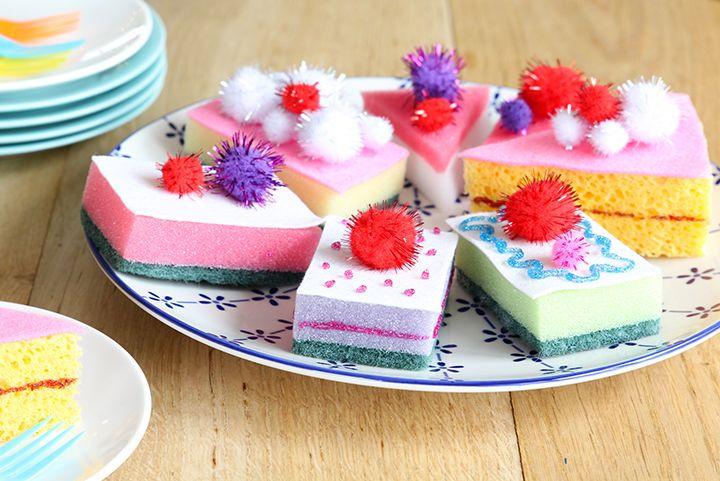 Sponstaartjes DIY | Make pie from sponges, so easy and fun! | Elske | www.elskeleenstra.nl