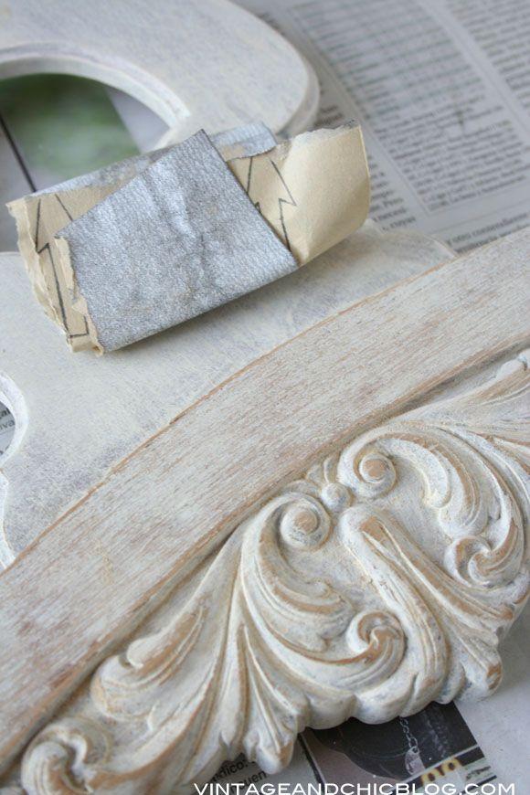 VINTAGE & CHIC: decoración vintage para tu casa · vintage home decor: Tutorial: silla con aire shabby chic [] DIY: shabby chic style chair