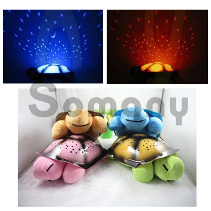 Tortoise Toy Led Lights 4 Colors 4 Songs For Children Sleeping Time Light Projector USB Cable/AAA Battery For Bedside Lighting #Affiliate