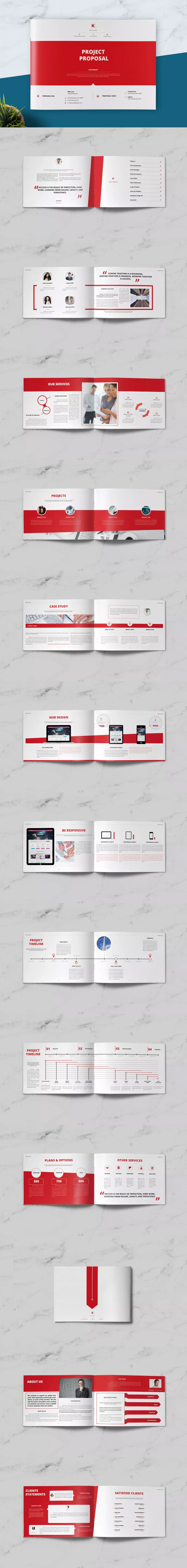 Project Proposal Brochure Template InDesign INDD A4 and Letter size