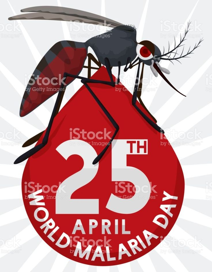 Mosquito over Blood Drop Design for World Malaria Day