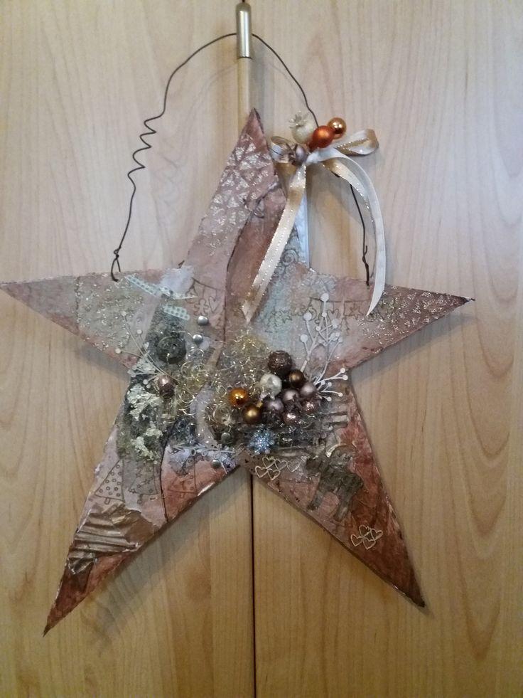 Mirka Filipová - vánoční hvězda na dveře