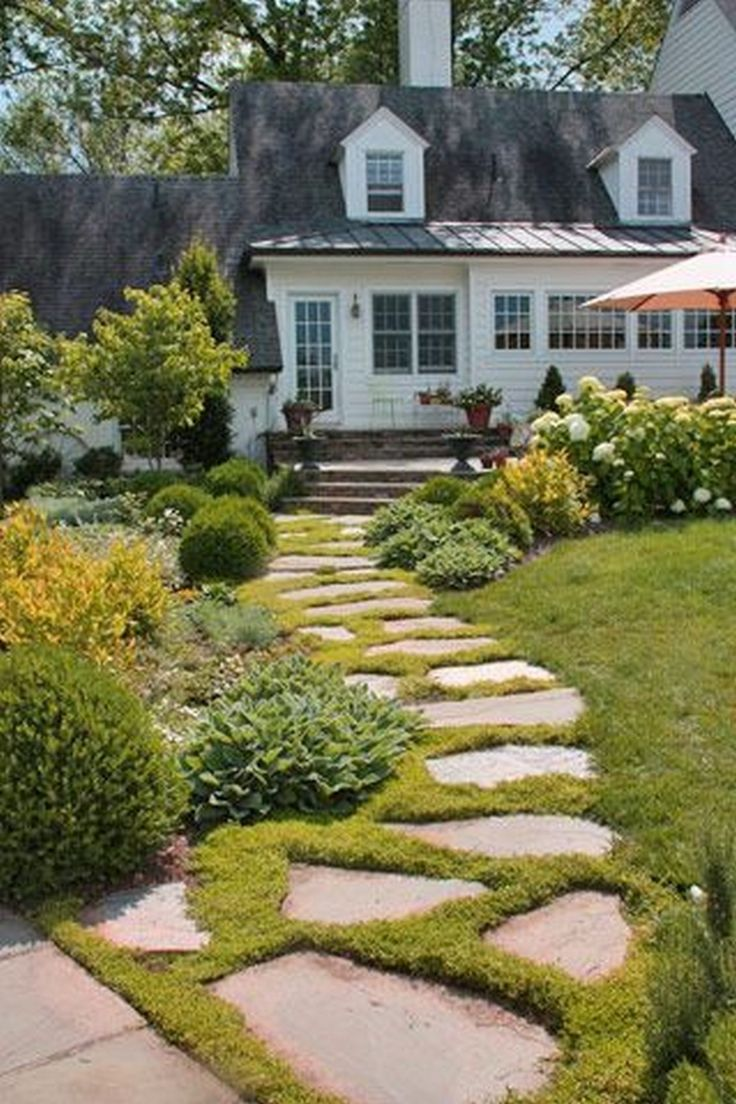 Farmhouse Landscaping Front Yard 99 Gorgeous Photos (16 ... on Farmhouse Backyard Landscaping id=80125