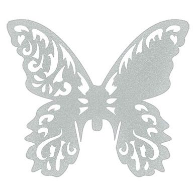 Laser Expressions Butterfly Die Cut Card Shimmer Paper - Weddingstar