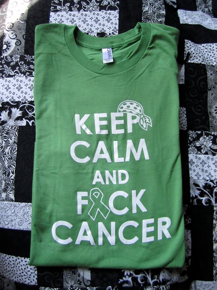 Keep Calm and Fuck Cancer - Leaf Green Unisex Canvas Jersey T-shirt, fundraising for a cause - Non Hodgkin's Lymphoma by CancerRibbonCity on Etsy