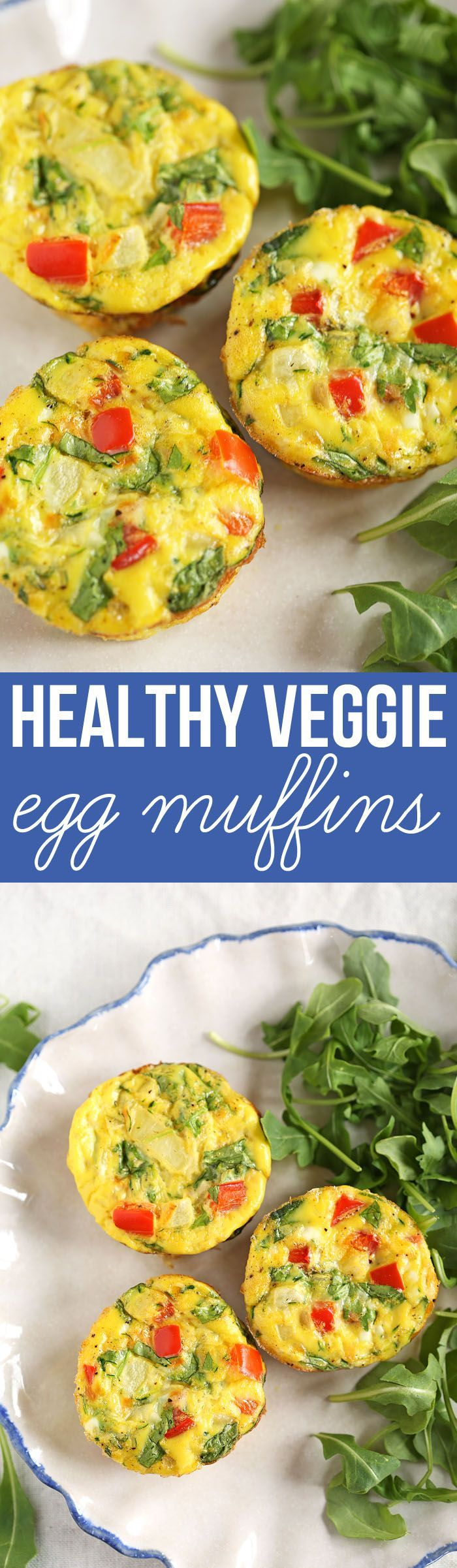 Healthy Breakfast Egg Muffins full of delicious veggies that are super easy to grab on-the-go! eat-yourself-skinny.com