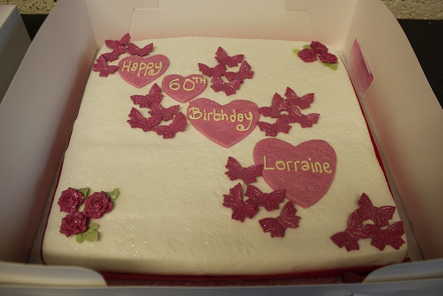 HUGE 60th Birthday Cake by Rebecca's Cakes (North London, Middx and Herts), via Flickr