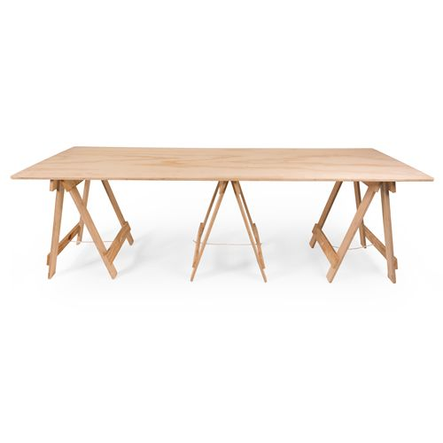 Need more room for your event or pop up shop? Our Large Trestle Table offers the same classic raw wood finish as our standard trestle table but with extra room