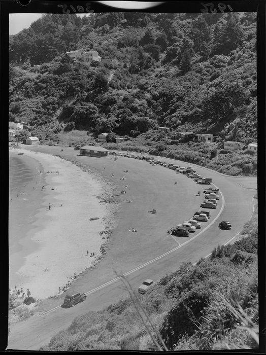 Scorching Bay beach scene, Wellington