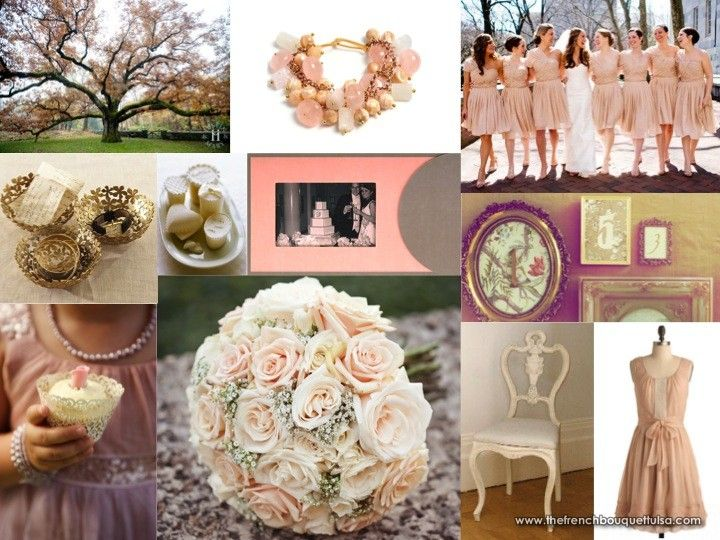 Champagne Ivory And Blush The French Bouquet Inspiration Board Fairytale Wedding