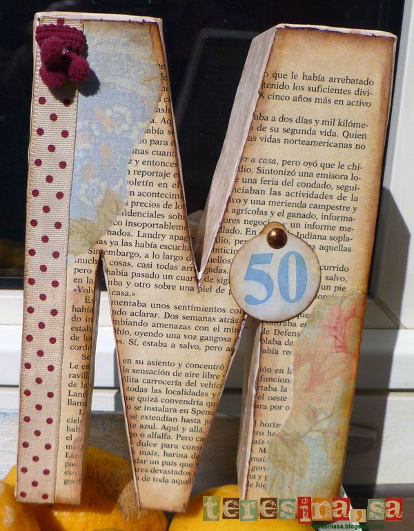 Tutorial letras decorativas con cartón y papel maché | Portaldelabores.com | Portal de labores