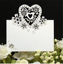 Nuovo 100 pz/lotto Bianco Tavolo Luogo Carte Evento Decorazione di DIY Carta di Nome Laser Cut Segnaposto Escort Mark Festa Festa di Nozze carta(China (Mainland))