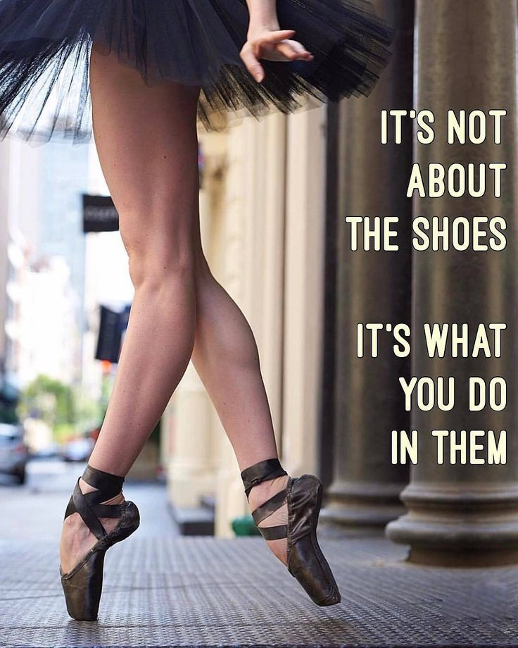 It's not about the shoes. It's about what you do in them.