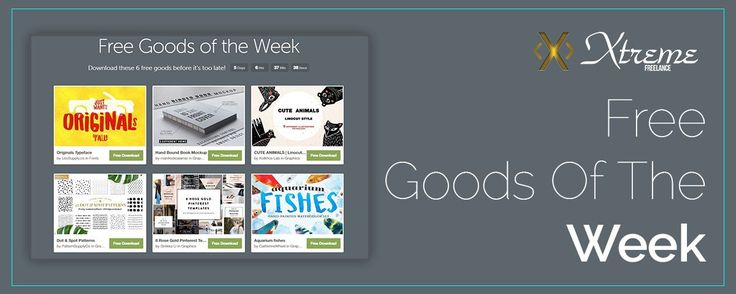 Free Goods Of The Week June 26 #xtremefreelance #wordpressdevelopment