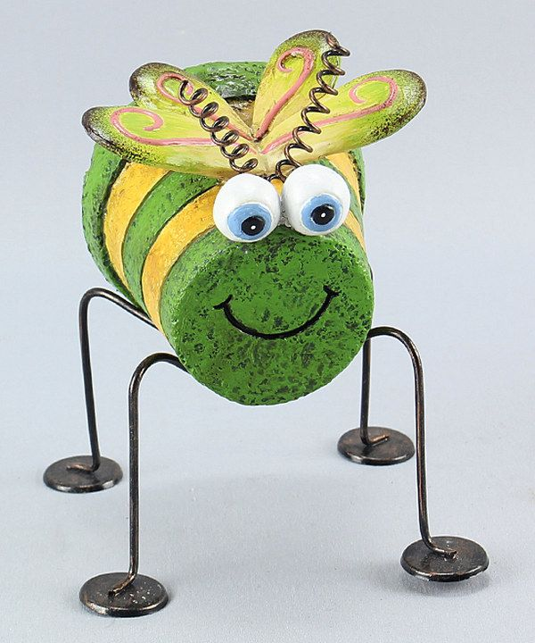 Look at this Critter Flower Pot Garden Figurine on #zulily today!