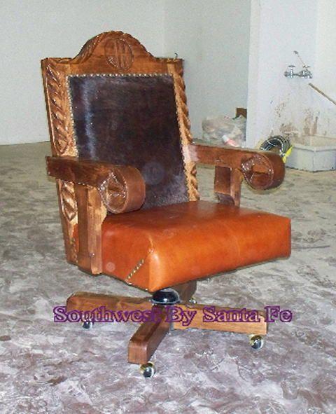 Alamo Hide Southwestern Office Chair