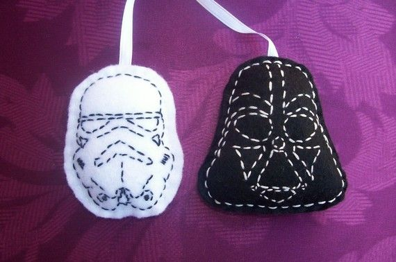 EVERYTHING on SALE Storm Trooper and Darth Vader Ornament/Hanging/Decoration