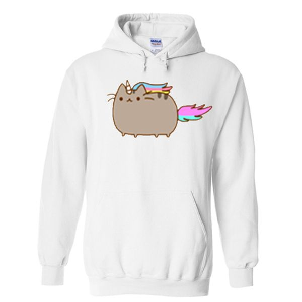 unicorn pusheen hoodie from teeshope.com This hoodie is Made To Order, one by one printed so we can control the quality.