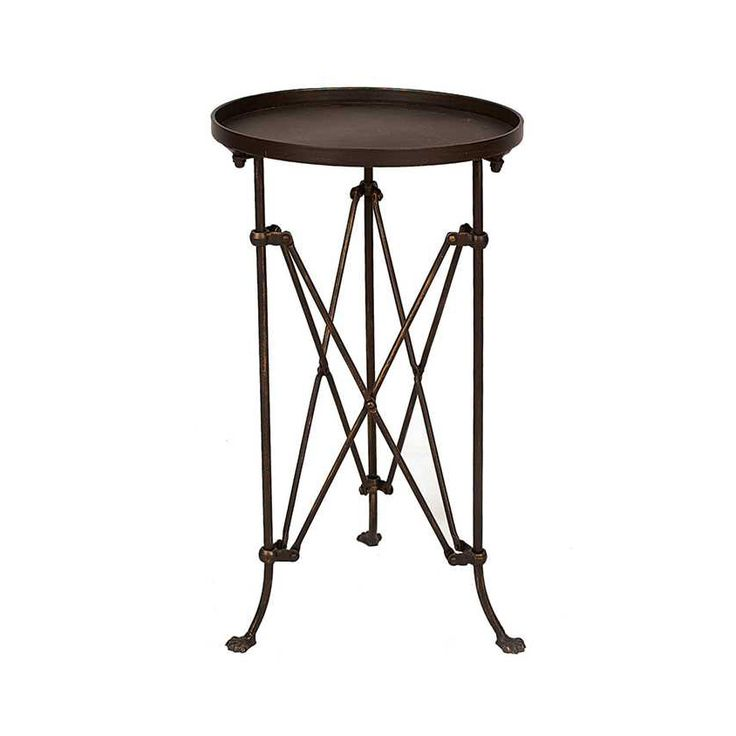 Superb Tiny Accent Table #11 - Fashioned Of Bronze-finished Metal, This Characteristic Table Belongs In A  Room Of Stylish Mystery. Its Insect-like Legs Capped By Three Tiny Feetu2026
