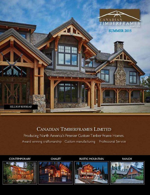 Canadian Timberframes Summer Newsletter, 2015 Edition