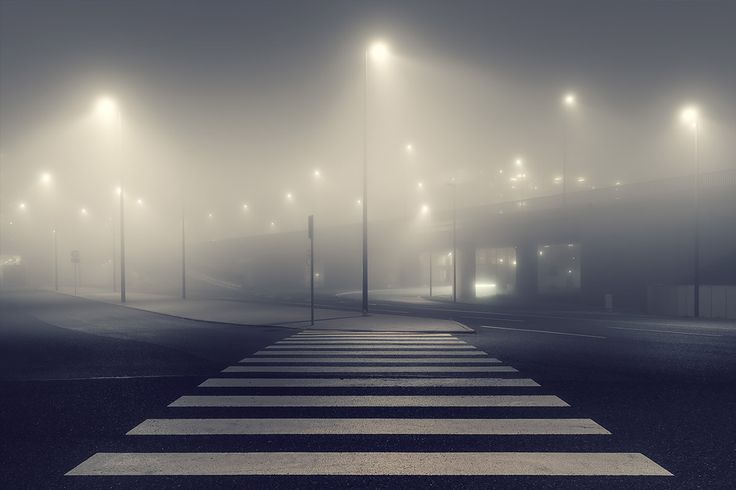 """German photographer Andreas Levers captures the ghostly beauty of deserted urban spaces at night in his ongoing series entitled """"At Night"""".   The series is focused on the use of artificial light in planned landscapes.  """"Each image is haunted by an eerie glow, scenes dotted by bursts of artificial illumination.""""  More photography inspiration via Colossal"""