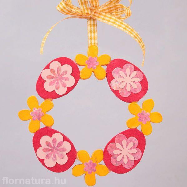Húsvéti ajtódísz dekorhab formákból