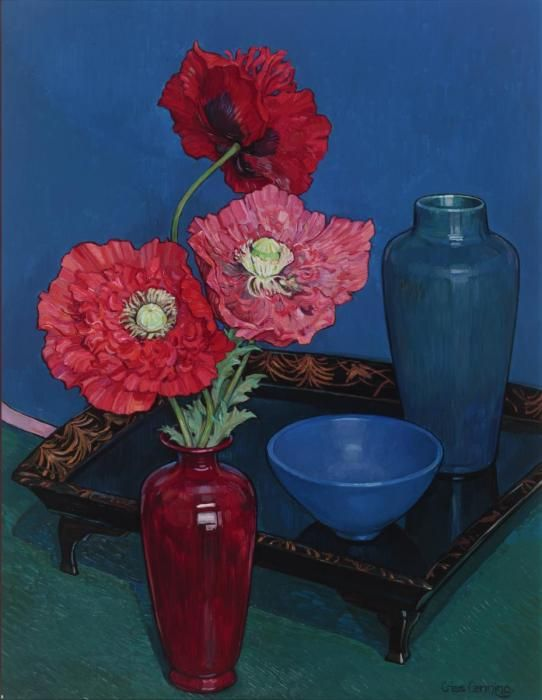 Criss Canning (b.1947) — Wild Poppies (542x700)