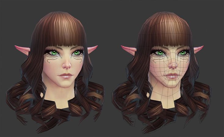 Rift: High Elf Female Head by HazardousArts