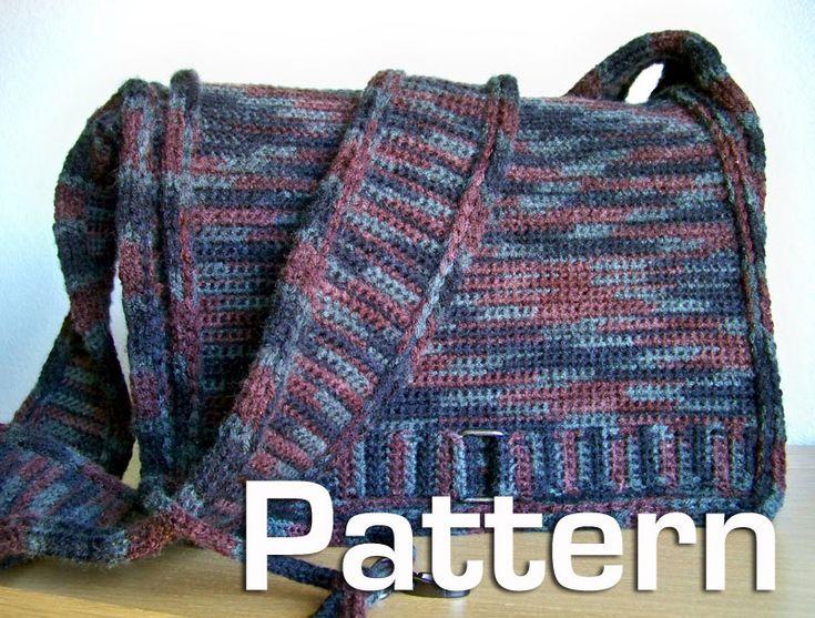 Crochet Pattern, Crochet Bag Pattern, Messenger Bag Pattern, Knit Crochet Laptop Case Pattern. $5.00, via Etsy.