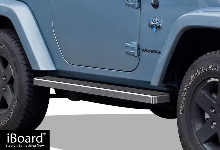 iBoard (Silver 5 inches) Running Boards | Nerf Bars | Side Steps | Step Rails For 2007-2017 Jeep Wrangler Sport Utility 2-Door