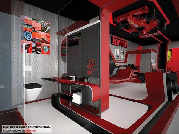 Cameretta ferrari ~ Best ferrari room images contemporary unit