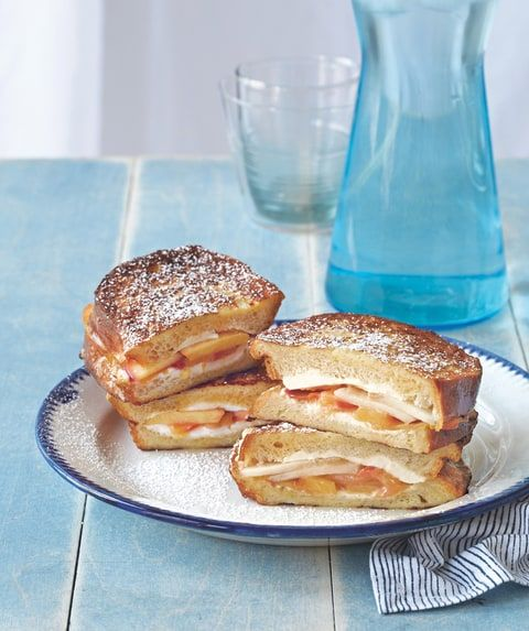 Katie's Nectarine and Cream Cheese French Toast Sandwiches from Endless Summer