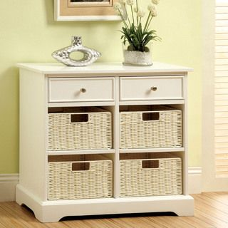 Furniture of America Ferente Modern White Storage Cabinet