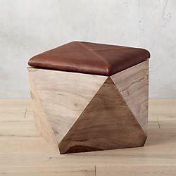 hexagon storage ottoman