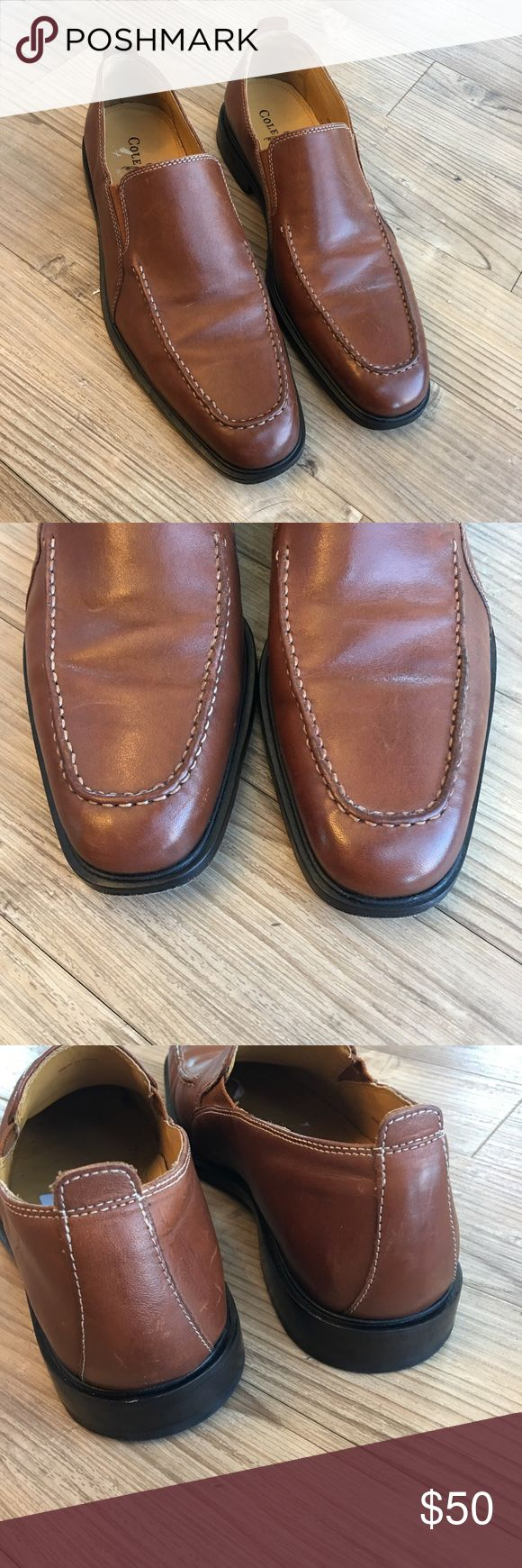 Cole Haan 'Beckett' Men's Slip On Loafers Gently worn Men's Cole Haan Becket Brown Leather Slip On Loafer Shoes Original Retail Price $168 Size 8B Color Brown Slip on Apron Toe Style: Beckett Style number: C06402 Cole Haan Shoes Loafers & Slip-Ons