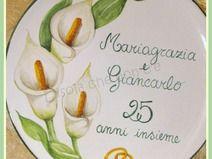 Piatto ricordo anniversario di nozze, regalo