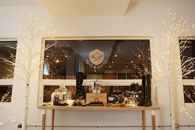 Poppy Barley Showroom - Modern Holiday Decor - Lights - Shoes - Photo by Andrea Hanki