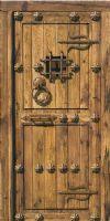 puerta rustica sefarad  con clavo orleans