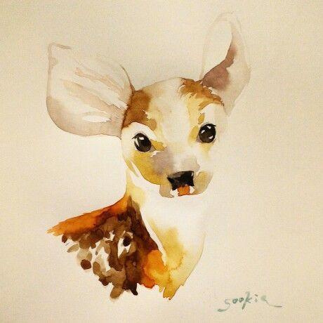 Deer illustration by Sookie Shen