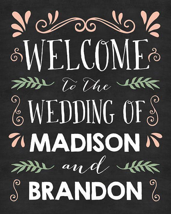 Bruiloft Welkom BANNER - schoolbord bruiloft Kunst - bruiloft teken - bruiloft Poster - bruiloft Decor - Shabby Chic Wedding - digitale