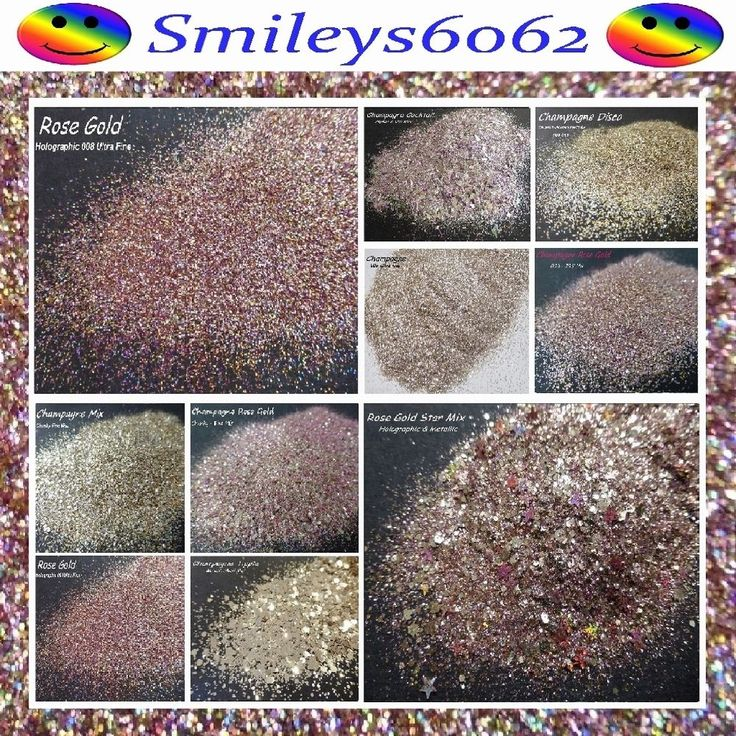 CHAMPAGNE ROSE GOLD & CHAMPAGNE NAIL ART & WINE GLASS GLITTER MIXES 5g PACK in Health & Beauty, Manicure & Pedicure, Nail Art Supplies | eBay