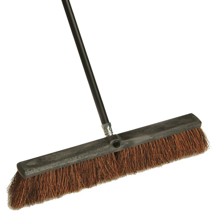 "Jensen Laitner Brush Company 255 18"" Block Push Broom With 60"" Handle"
